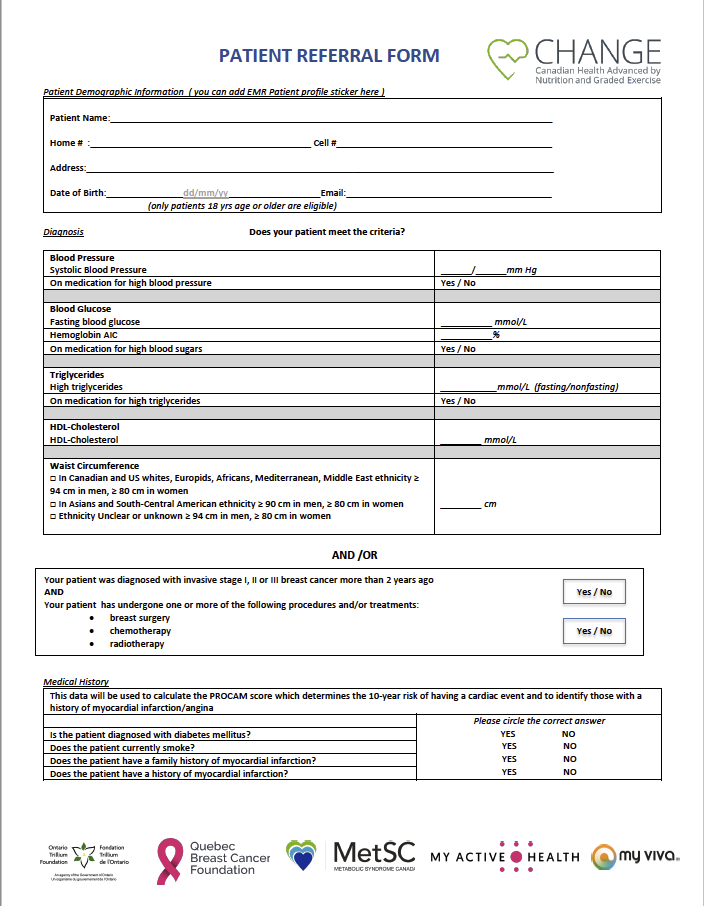 Thumbnail of the patient referral form