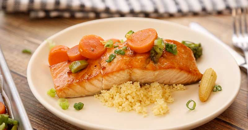 Teriyaki Salmon and Couscous